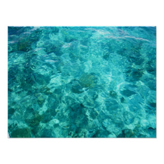 Crystal Clear Sea Poster