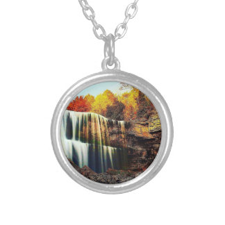 Crystal Clear Waterfall Round Necklace