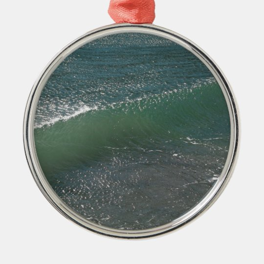 Crystal Clear Wave Movement Metal Ornament