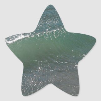 Crystal Clear Wave Movement Star Sticker