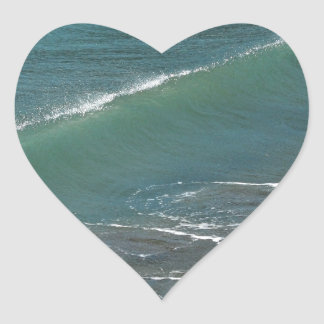Crystal Clear Wave Movement Heart Stickers