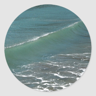 Crystal Clear Wave Movement Round Sticker