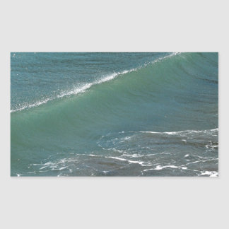 Crystal Clear Wave Movement Rectangular Stickers