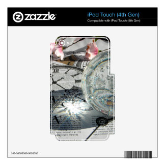 Crystal Clocks iPod Touch 4G Skins