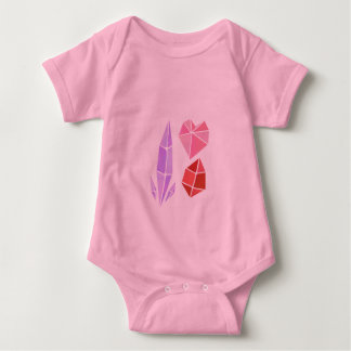 Crystal Cluster Baby Suit Baby Bodysuit