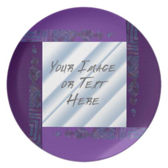 Crystal Collage: Purple Melamine Plate