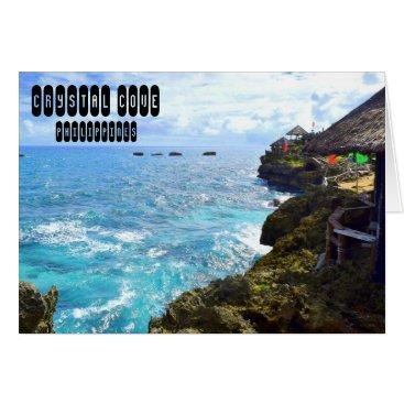 Beach Themed Crystal Cove Card