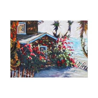 Crystal Cove Cottage Canvas Print