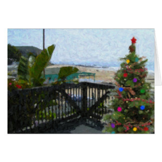 Crystal Cove Holiday Beach View Card
