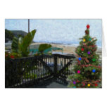 Crystal Cove Holiday Beach View Greeting Card