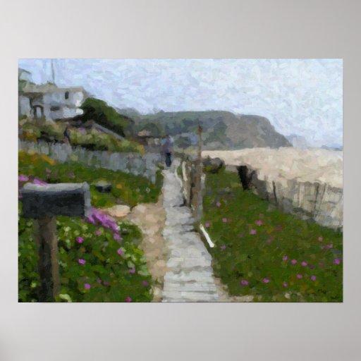 """Crystal Cove Walkway"" Poster"