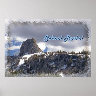 Crystal Crag School Rocks! Poster