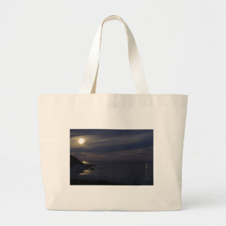 Crystal Crescent Beach Moonlight Tote Bags