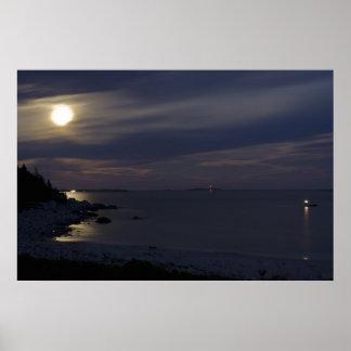 Crystal Crescent Beach Moonlight fine art print