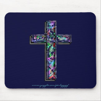 Crystal Cross Mouse Mat