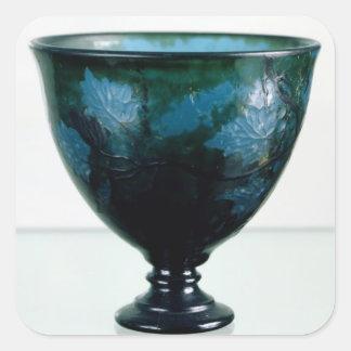 Crystal cup, 'Par une Telle Nuit', 1894 Square Sticker