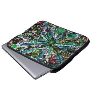 Crystal Daylight blue green multi laptop basic Laptop Sleeve