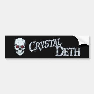Crystal Deth Bumper Sticker Car Bumper Sticker