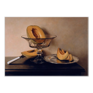 Crystal Dish with Melons by Mauro David Poster