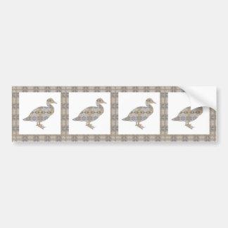 CRYSTAL DUCK BIRD DIY Template NVN430 LARGE kids Car Bumper Sticker
