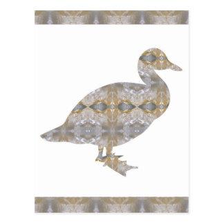 CRYSTAL DUCK BIRD DIY Template NVN430 LARGE kids Postcard