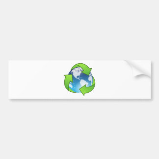 Crystal Earth Cycle of Life Bumper Sticker