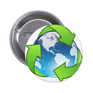 Crystal Earth Cycle of Life Pinback Button