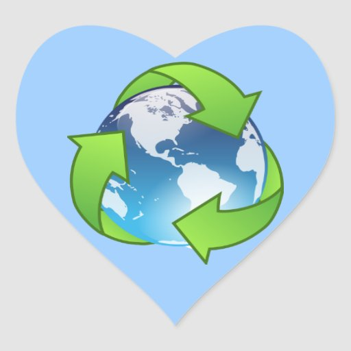 Crystal earth globe recycle icon sticker