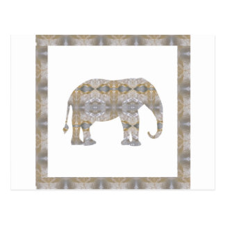 CRYSTAL Elephant DIY Template NVN447 LARGE kids Post Cards
