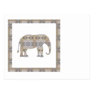 CRYSTAL Elephant DIY Template NVN447 LARGE kids Postcard
