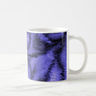 crystal extrusion copy, Crystal Blue Extrusion Classic White Coffee Mug