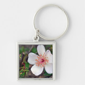 Crystal Fairy Rose Flower Keychain