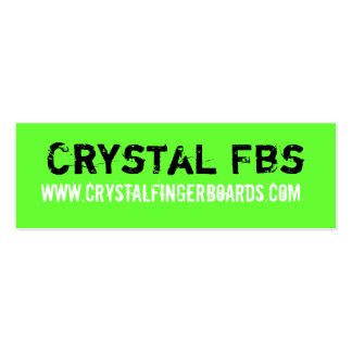 Crystal Fingerboards Card Business Card Templates