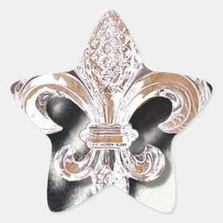 Crystal Fleur De Lis New Orleans Mardi Gras Zebra Star Sticker