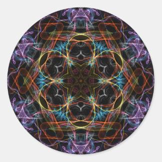 Crystal Fragment Classic Round Sticker
