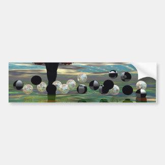 Crystal Garden, Abstract Green Gold Light Bumper Sticker