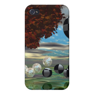 Crystal Garden, Abstract Green Gold Light iPhone 4 Cover