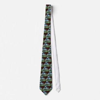 Crystal Garden, Abstract Green Gold Light Neck Tie
