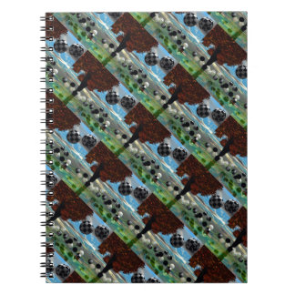 Crystal Garden, Abstract Green Gold Light Note Books