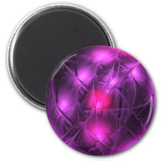 Crystal gazing (purple) 2 inch round magnet