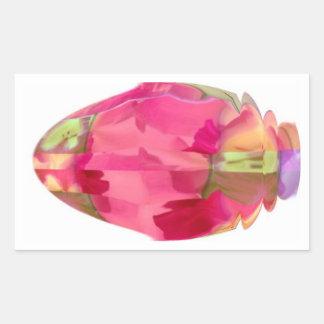 Crystal Gem : RedRose PinkRose based Art Rectangular Sticker