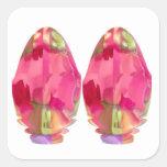Crystal Gem : RedRose PinkRose based Art Sticker