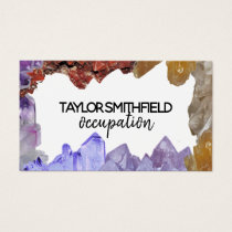 crystal gem trendy modern simple business card