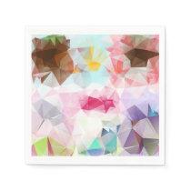 Crystal Geometric Shapes Paper Napkins