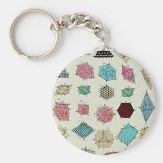 Crystal Geometry Basic Round Button Keychain
