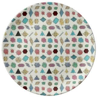 Crystal Geometry Porcelain Plate