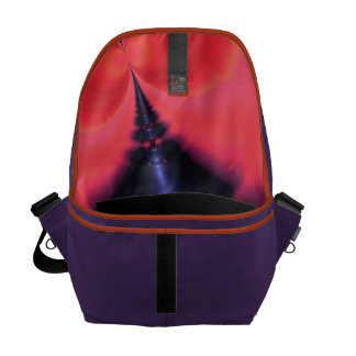 Crystal Ghost – Salmon & Indigo Surprise  Embrace Courier Bag