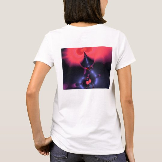 Crystal Ghost – Salmon & Indigo Surprise T-Shirt