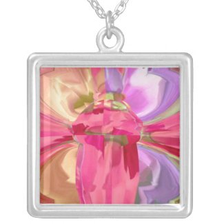 Crystal Gifts - RedRose PinkRose Petals necklace
