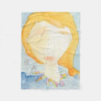 Crystal girl serie, Ilda Fleece Blanket